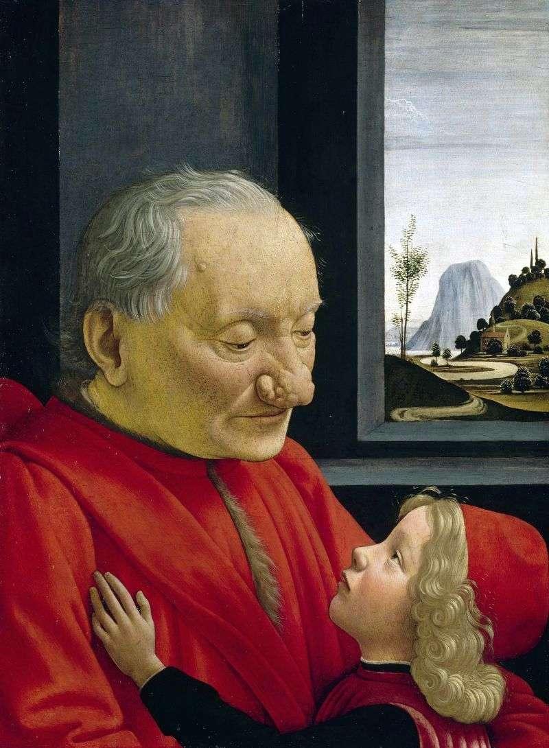 Портрет старого з онуком   Доменіко Гірландайо