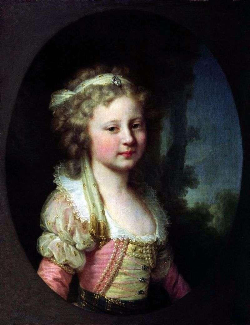 Портрет великої княжни Олени Павлівни в дитинстві   Йоганн Баптист Лампі
