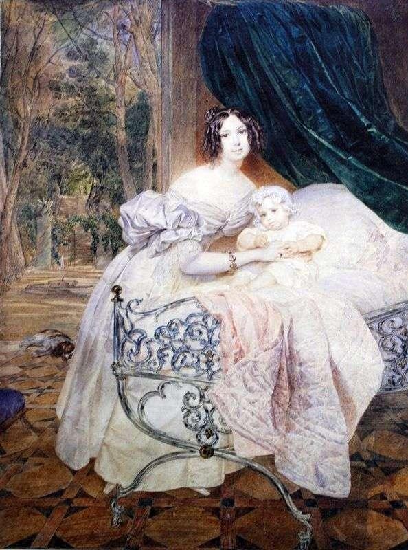 Портрет М. І. Бутеневой з дочкою   Карл Брюллов