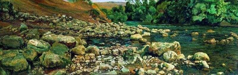 Підніжжя Виковари. Каміння на березі річки   Олександр Іванов