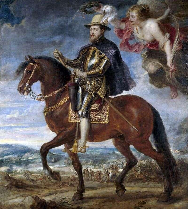 Кінний портрет Філіпа II   Пітер Рубенс