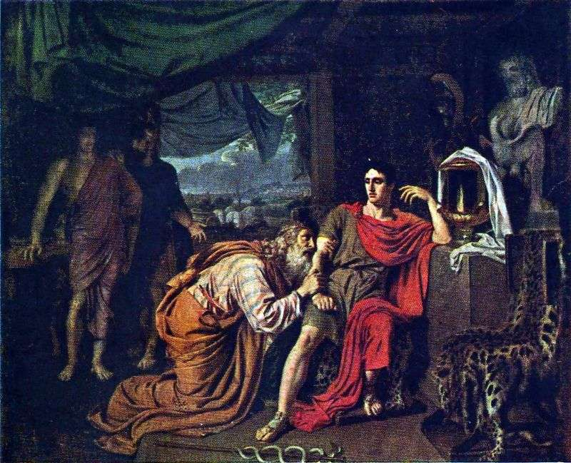 Пріам, просить у Ахіллеса тіло Гектора   Олександр Іванов