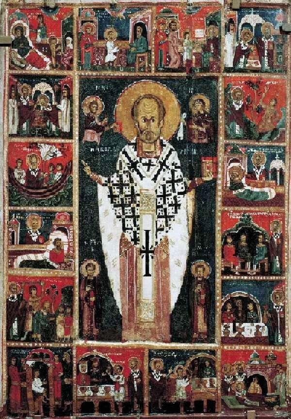 Святий Миколай Чудотворець, з житієм в 16 клеймах