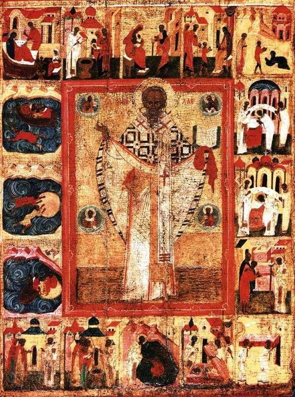 Святий Миколай, з 16 клеймами житія