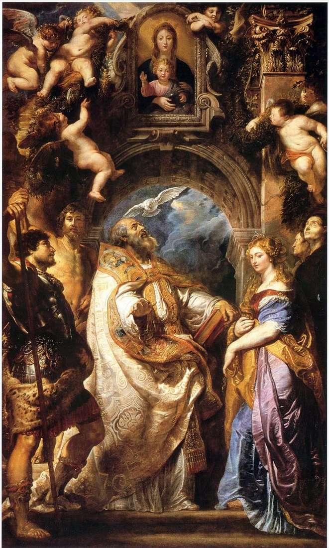 Мадонна з Немовлям, Св. Григорієм Великим святими   Пітер Рубенс