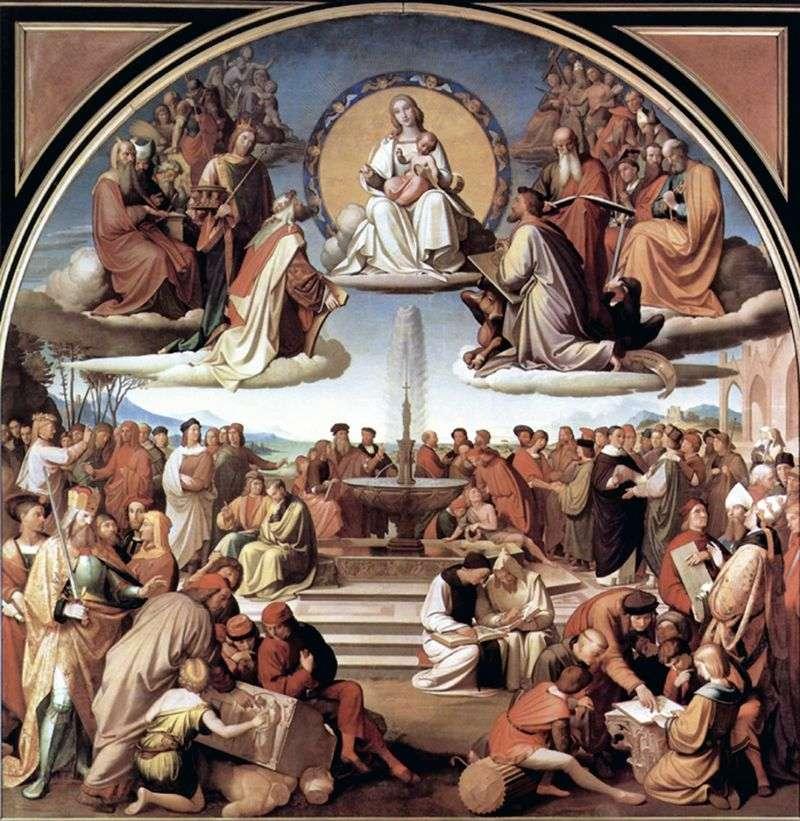 Тріумф релігії в мистецтвах   Йоганн Фрідріх Овербек