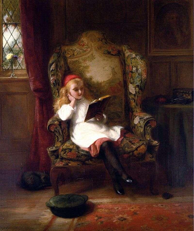 Приємне читання (дитячий портрет)   Джордж Бернард оніл