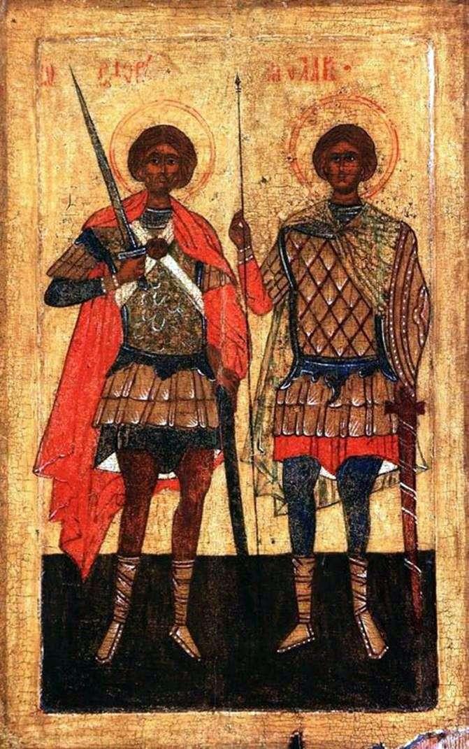 Святі Флор і Лавр в образі воїнів