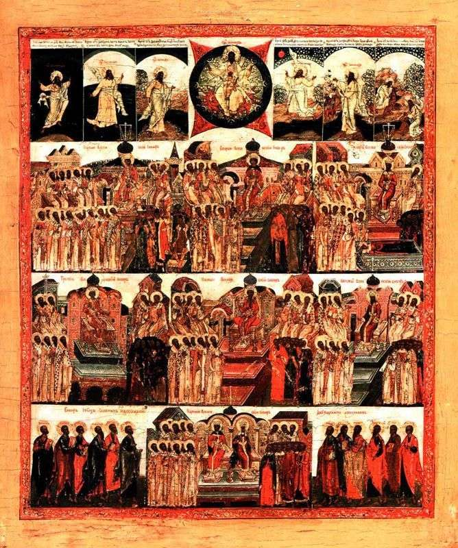 Сім Вселенських соборів із Створенням світу та Собором дванадцяти Апостолів