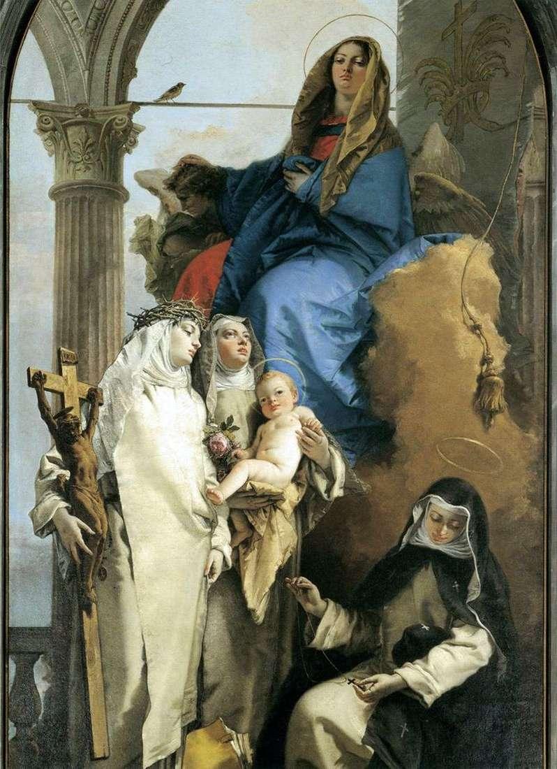 Явище Богородиці домініканським святим   Джованні Баттіста Тьєполо