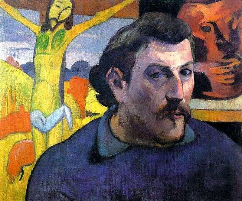 Автопортрет з жовтим Христом   Поль Гоген