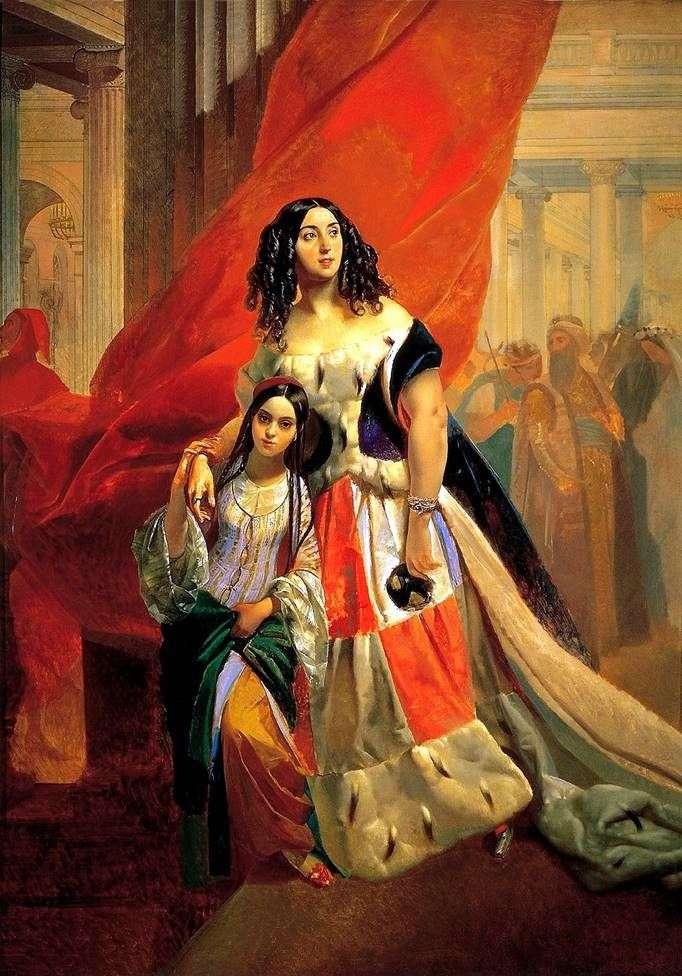 Портрет Юлії Самойлової з вихованкою   Карл Брюллов