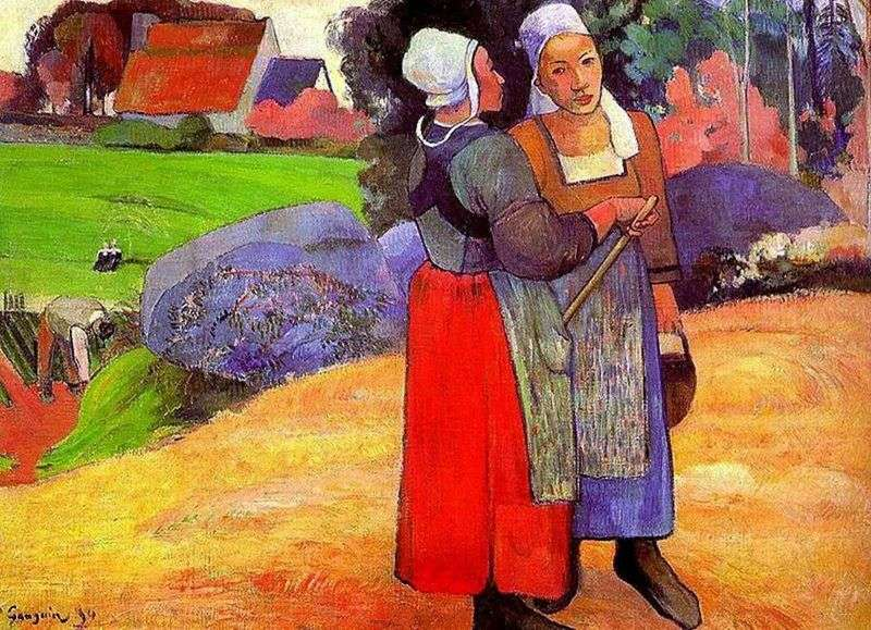 Бретонські селянки   Поль Гоген