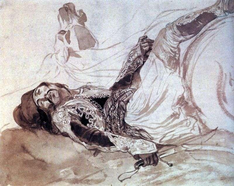 Поранений грек, що впав з коня   Карл Брюллов