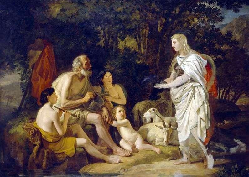 Эрминия у пастухів   Карл Брюллов