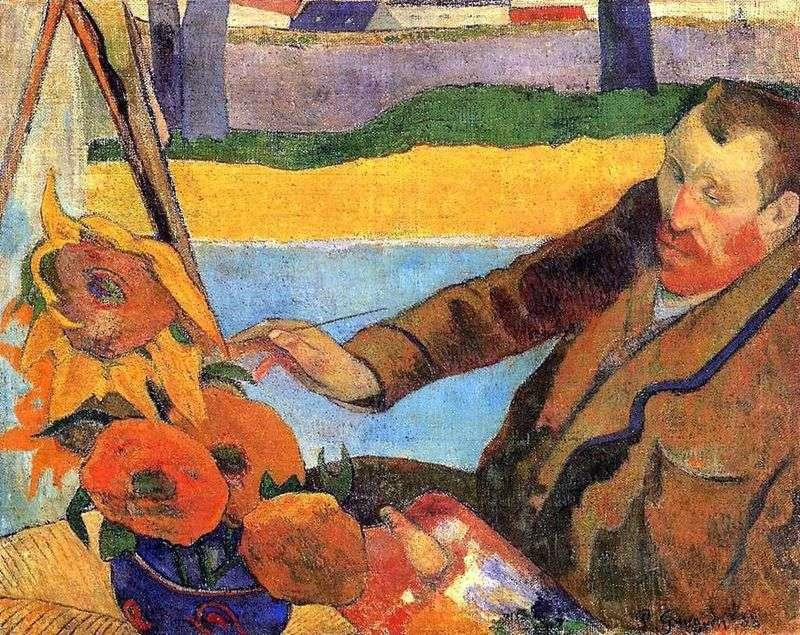 Ван Гог малює соняшники (Портрет Вінсента Ван Гога)   Поль Гоген