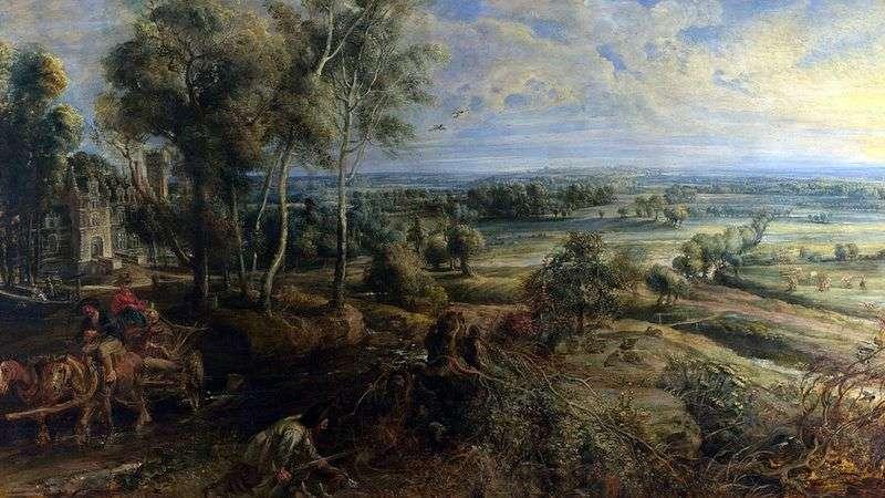 Осінній пейзаж з видом на Хеш Стін   Пітер Рубенс