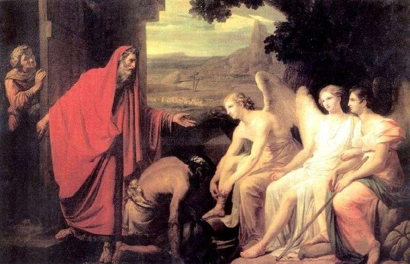 Явище Аврааму трьох ангелів біля дуба Мамврійського   Карл Брюллов