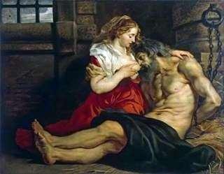 Отцелюбие римлянки (Цимон і Перо)   Пітер Рубенс