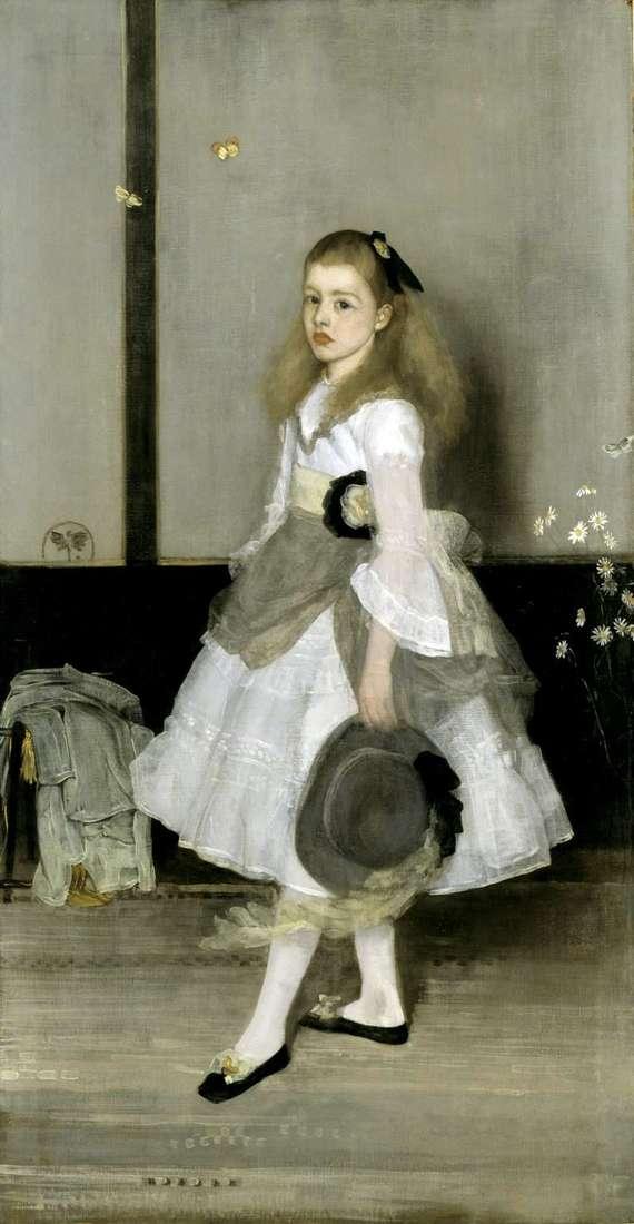 Гармонія в сірому і зеленому: портрет міс Сесілі Александер   Джеймс Уістлер