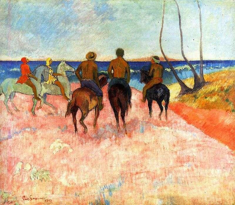 Вершники на березі   Поль Гоген