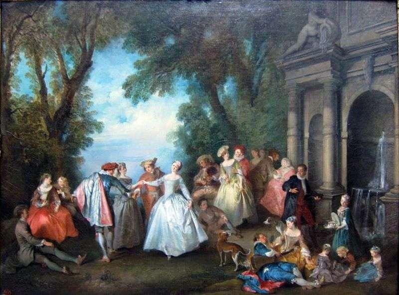 Танці біля фонтану   Нікола Ланкре