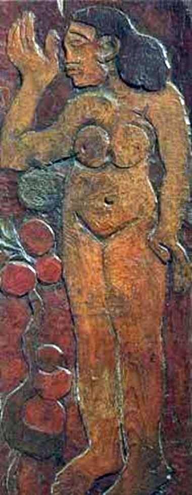 Деревяна скульптура   Поль Гоген