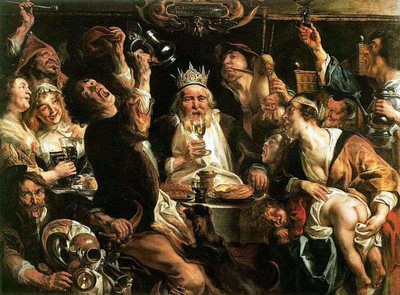 Король пє   Якоб Йорданс