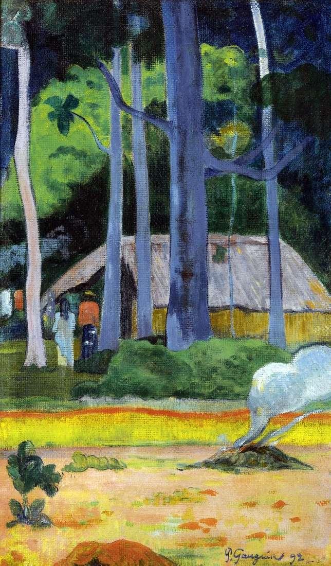 Будиночок під деревами   Поль Гоген