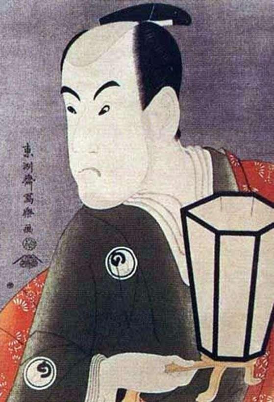 Актор Бандо Хикосабуро III в ролі воїна Сагисака Санан   Тосюсай Сяраку