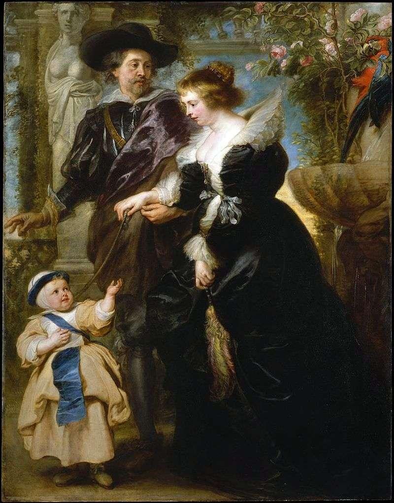 Пітер Рубенс, його дружина Олена Фоурмент і їх син   Пітер Рубенс