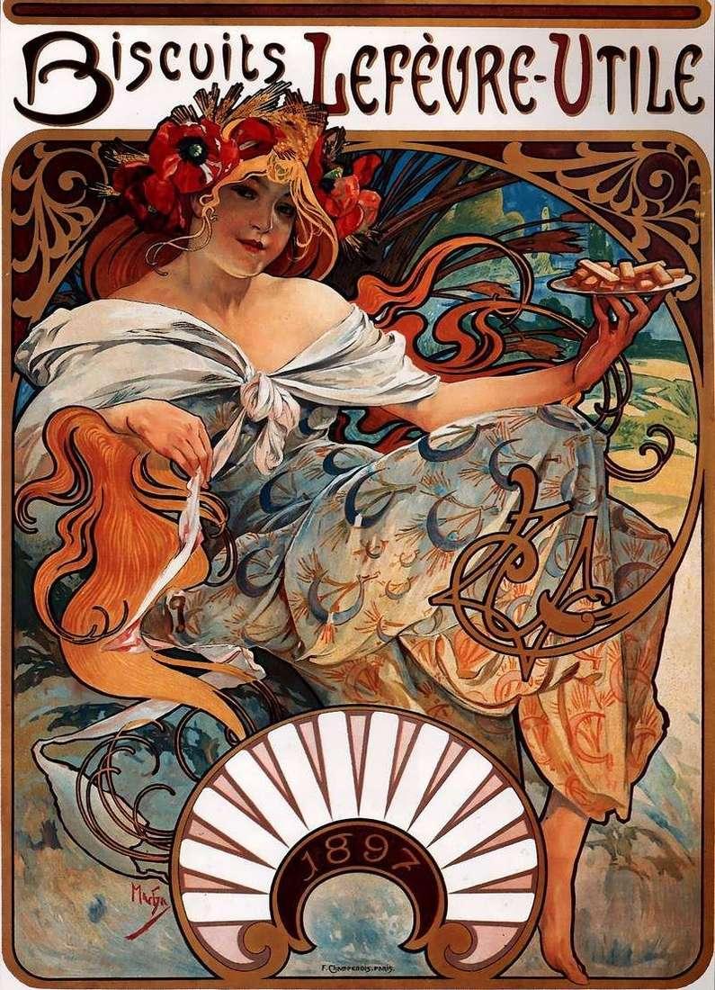 Рекламний плакат   Альфонс Муха