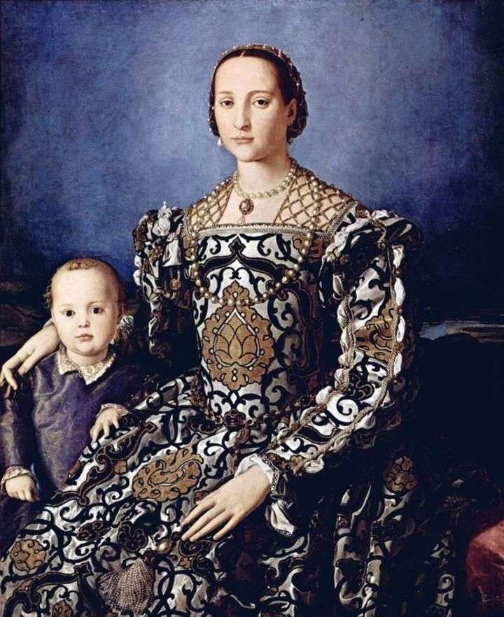 Портрет Елеонори Толедської з сином Джованні Медічі   Аньоло Бронзіно