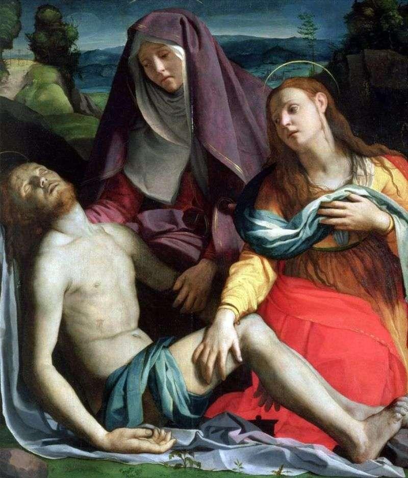 Мертвий Христос з Богоматірю і Марією Магдалиною (Пєта)   Аньоло Бронзіно