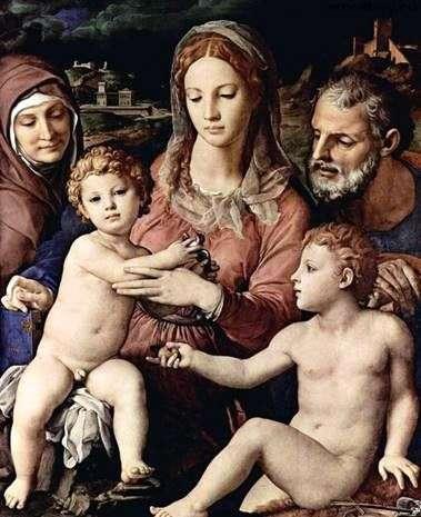 Святе сімейство зі святою Анною та Іоанном Хрестителем   Аньоло Бронзіно