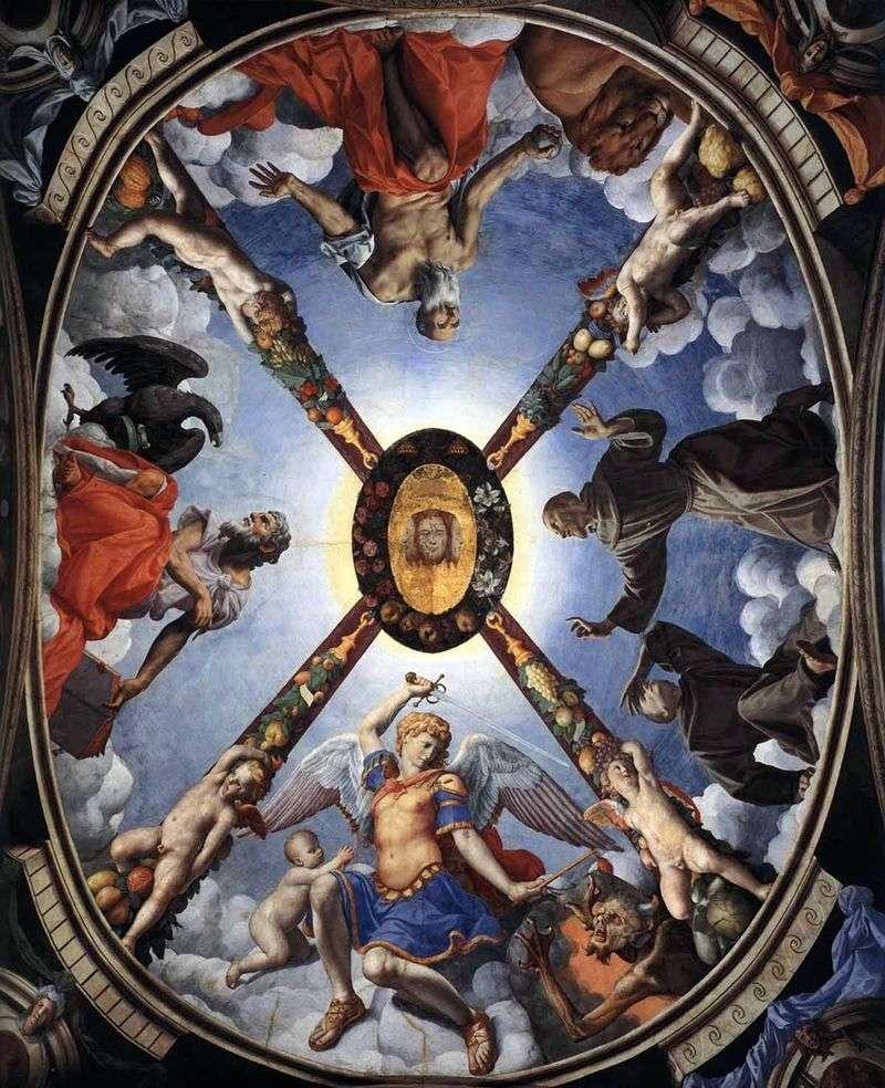 Художнє оформлення, розпис стелі   Аньоло Бронзіно
