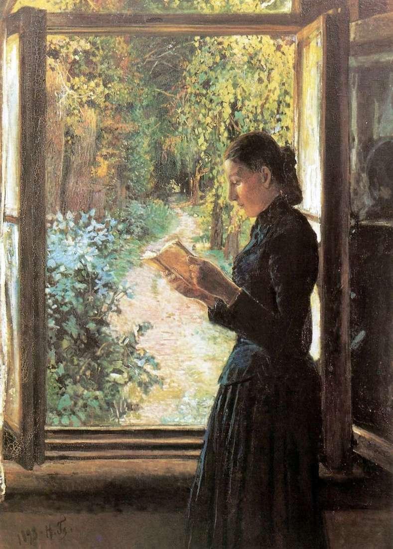 Портрет Н. І Петрункевич біля відкритого вікна   Микола Ге