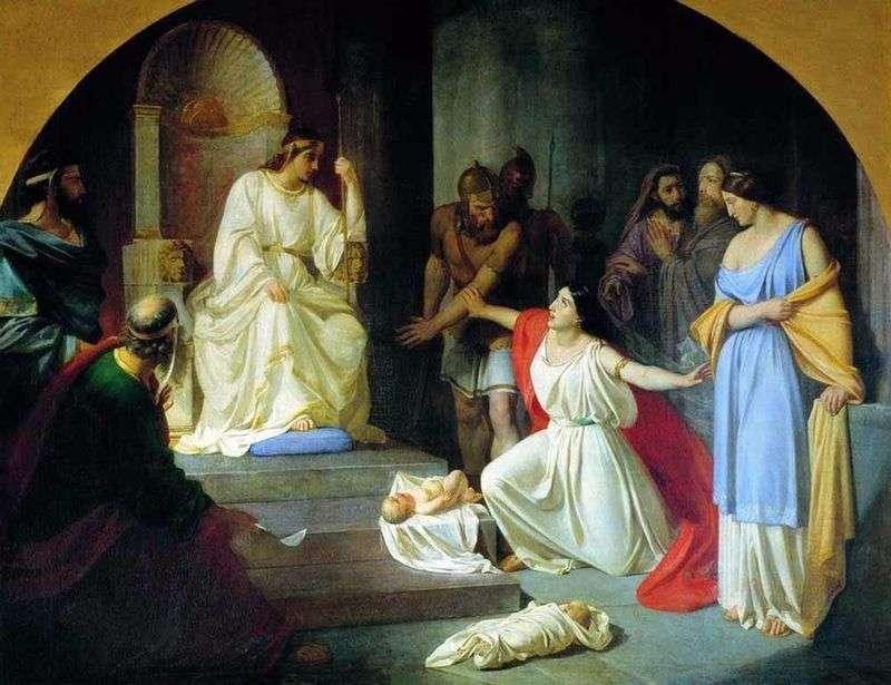 Суд царя Соломона   Микола Ге