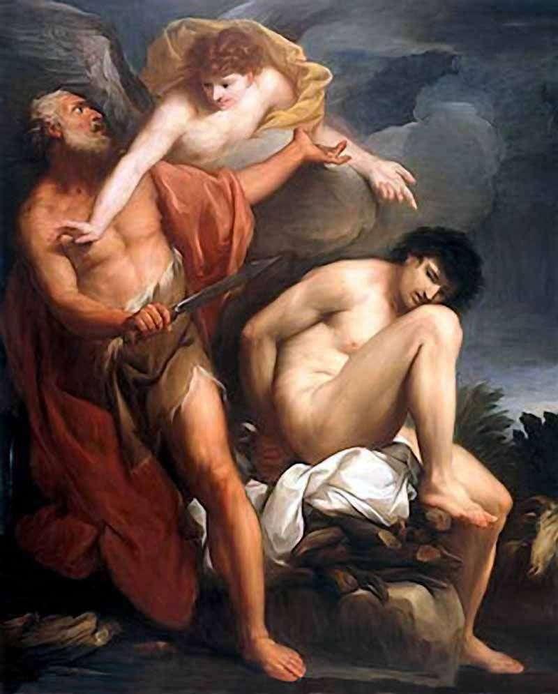 Авраам приносить у жертву Ісаака   Григоріо Лаццаріні
