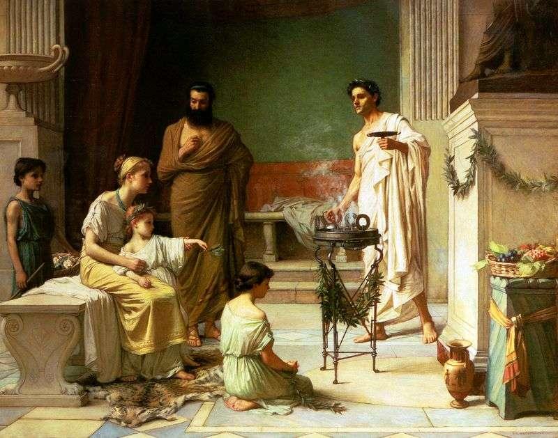 Хвора Дитина, Принесений у Храм Ескулапа   Джон Уотерхаус