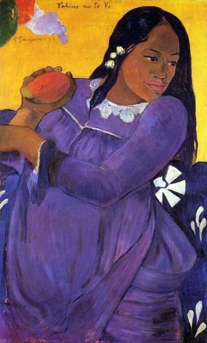Жінка з манго (Дівчина з плодом манго)   Поль Гоген