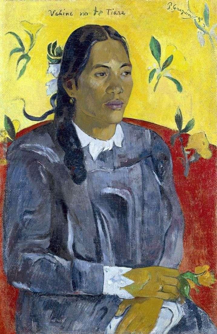 Жінка з квіткою   Поль Гоген