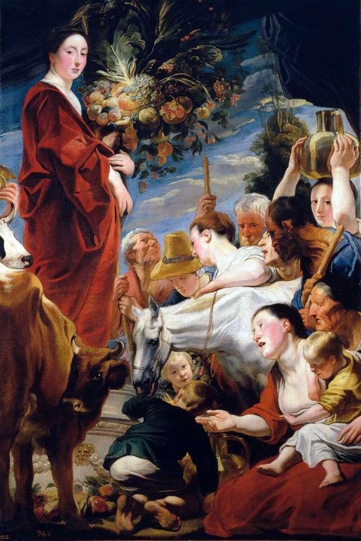 Підношення Церері, богині врожаю   Якоб Йорданс