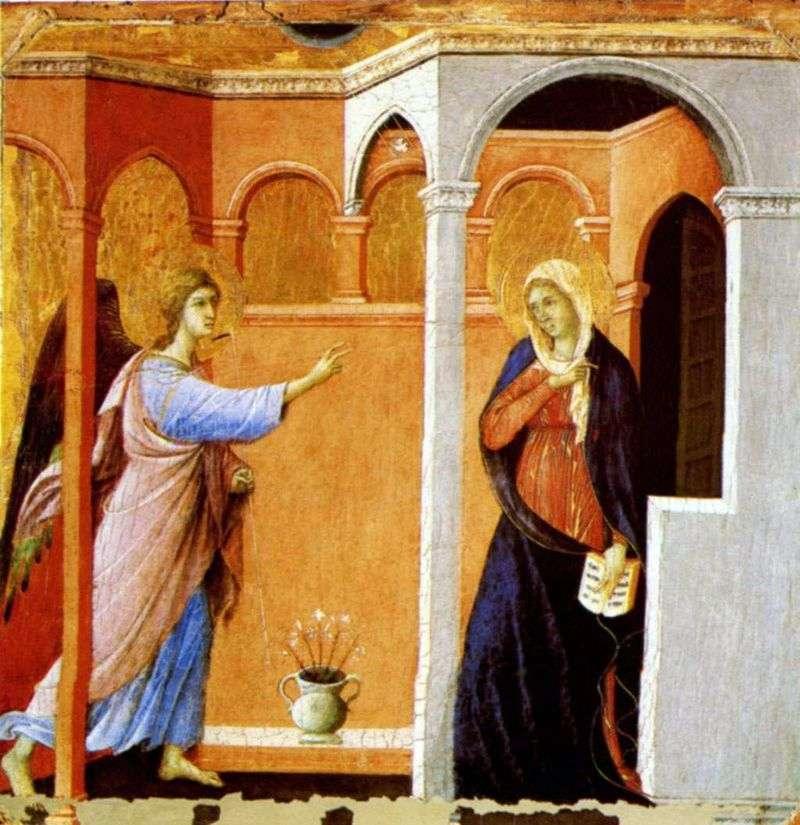Благовіщення   Дуччо ді Буонінсенья