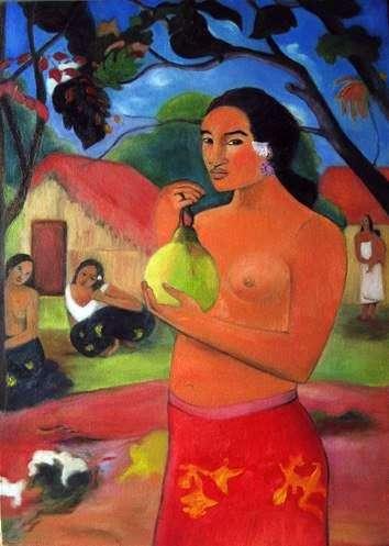 Жінка, що тримає плід   Поль Гоген