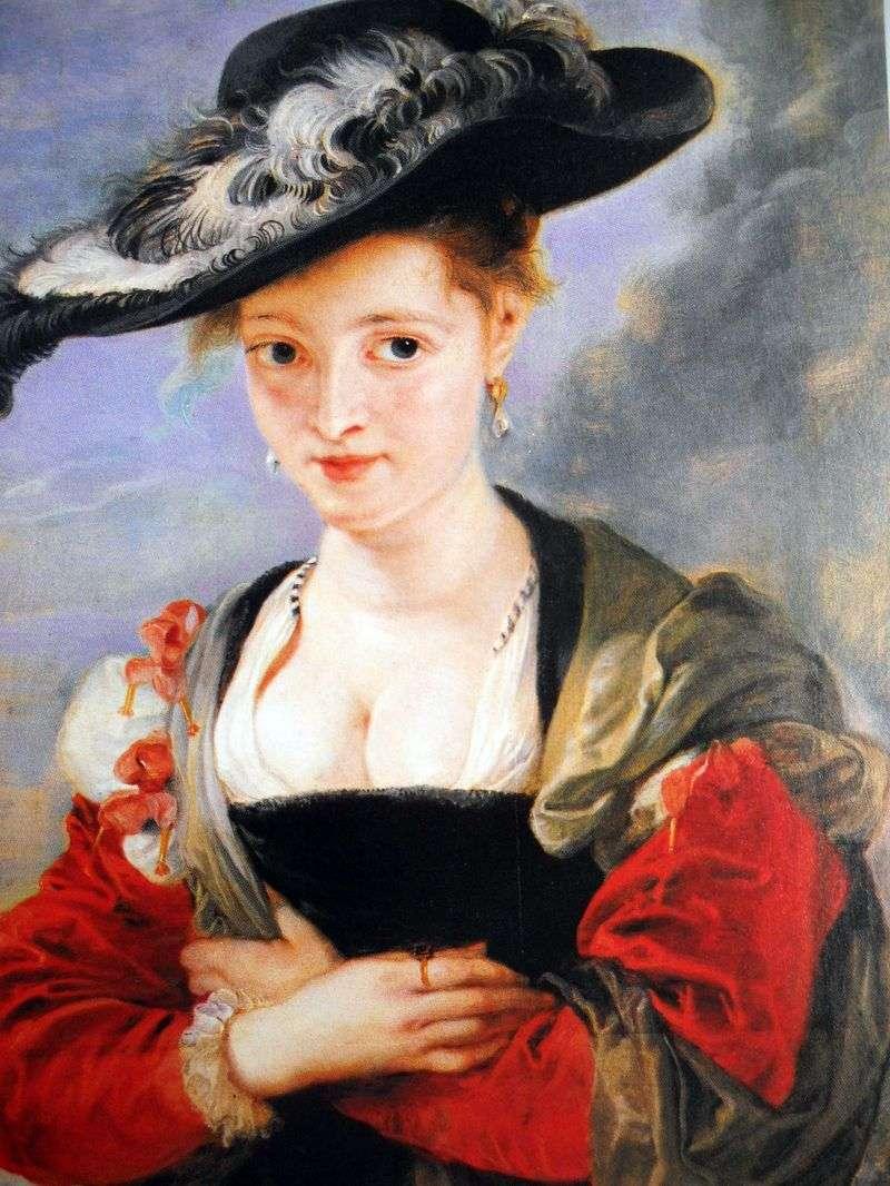 Портрет пані в соломяному капелюшку   Пітер Рубенс