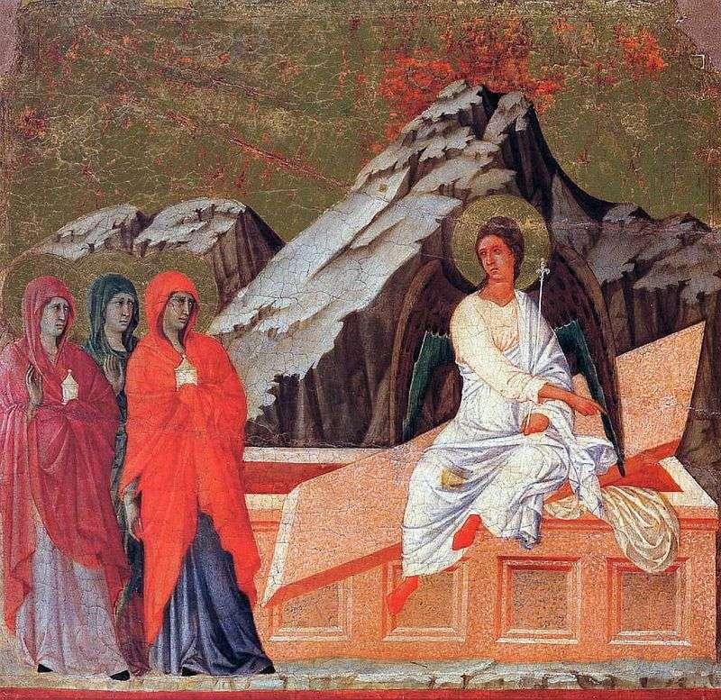 Дружини мироносиці біля гробу Господнього   Дуччо ді Буонінсенья