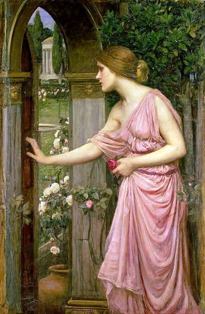 Психея, що відкриває двері в сад Купідона   Джон Вільям Уотерхаус