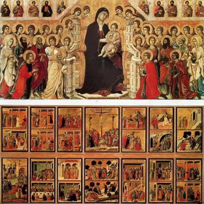 Мадонна з ангелами і святими (Маеста)   Дуччо ді Буонінсенья