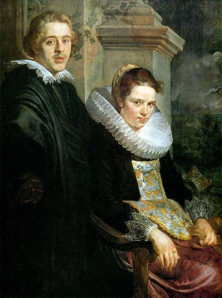 Портрет молодого подружжя   Якоб Йорданс
